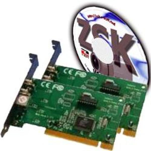 ZSK Home Vision 4x - 2 Placi captura supraveghere video PCI 3C, 4 intrari video composite, 30 fps total,